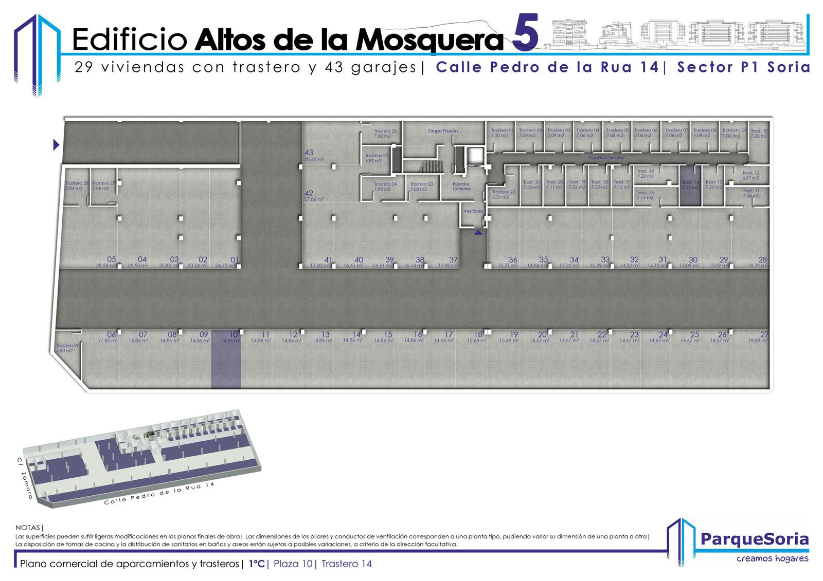 Plaza de Garaje y Trastero 1º C
